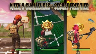 WEEK 2 CHALLENGES SEASON 5 + FREE TIER BATTLE STAR - FORTNITE