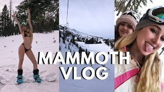 MAMMOTH vlog!! snowboarding trip with my family