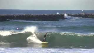 South Mission Jetty - Mission Beach Surf Video December 2012
