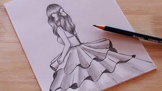 วาดรูปผู้หญิง ชุดกระโปรงสวยๆ / วาดรูปผู้หญิง / วาดรูปง่ายๆ | How to draw a girl / tutorial