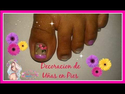 Decoraci n de u as de los pies youtube - Decoracion de pies ...