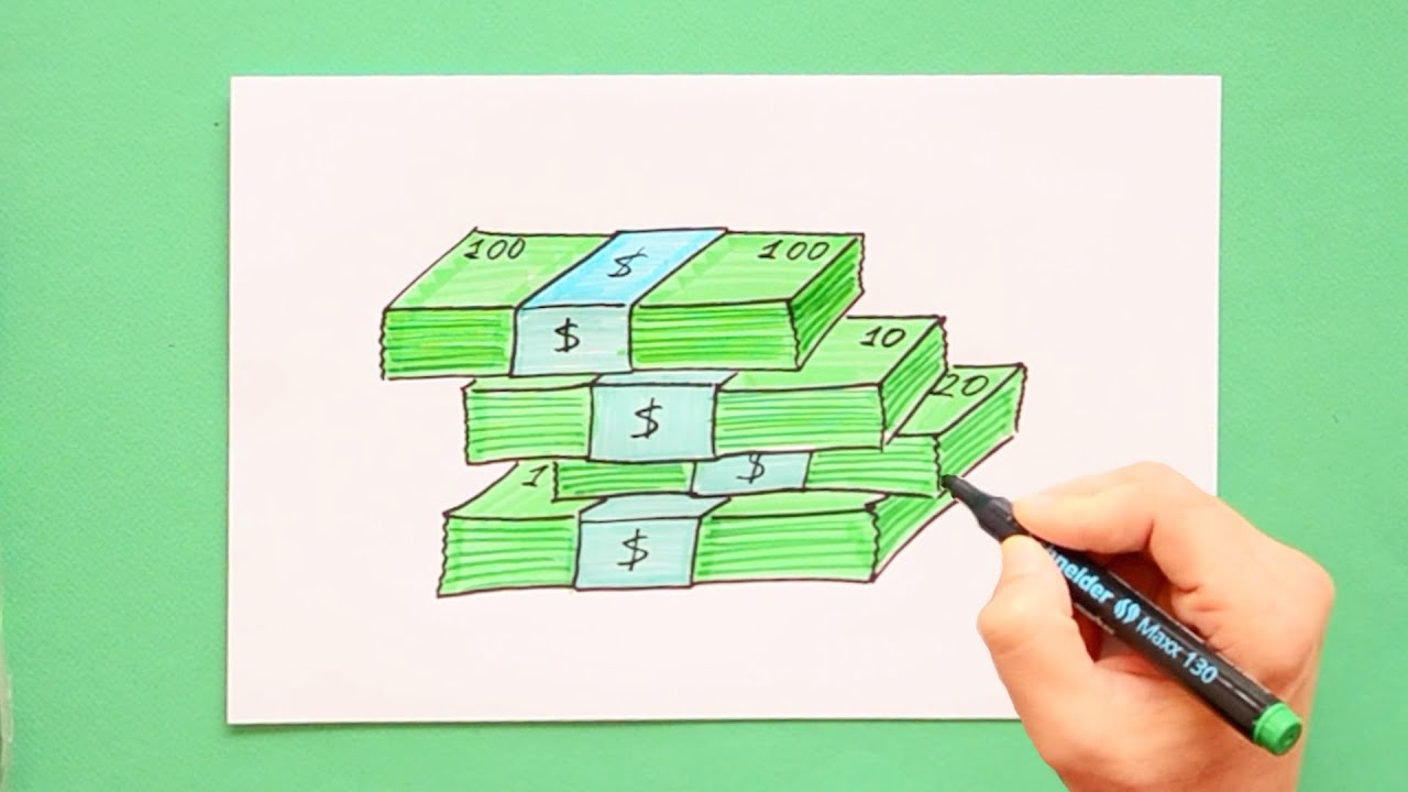 How To Draw Money Youtube