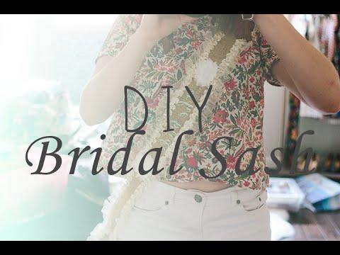 Diy bridal sash abbey kathleen youtube diy bridal sash abbey kathleen solutioingenieria Images