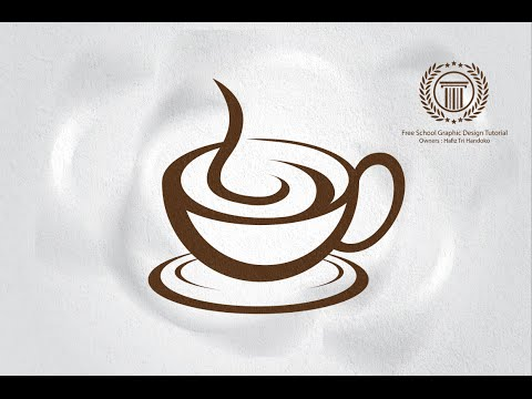 How To Make Professional coffee cafe shop Logo Design in Adobe illustrator
