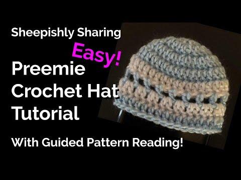 Preemie Hat Crochet Tutorial | Beginner Friendly! thumbnail