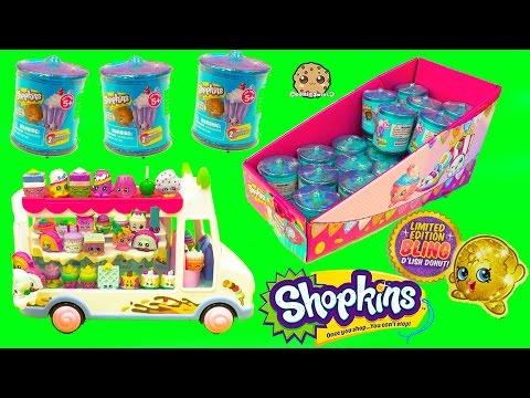 Shopkins Food Fair Candy Jar Blind Bag Box Season 1 , 2 , 3 Exclusive Colors In Ice Cream Truck