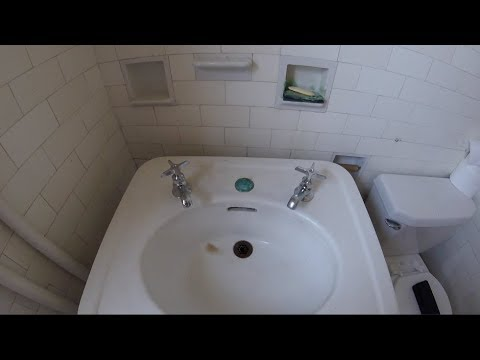 Antique Pedestal Sink 101 Years Old Repaired