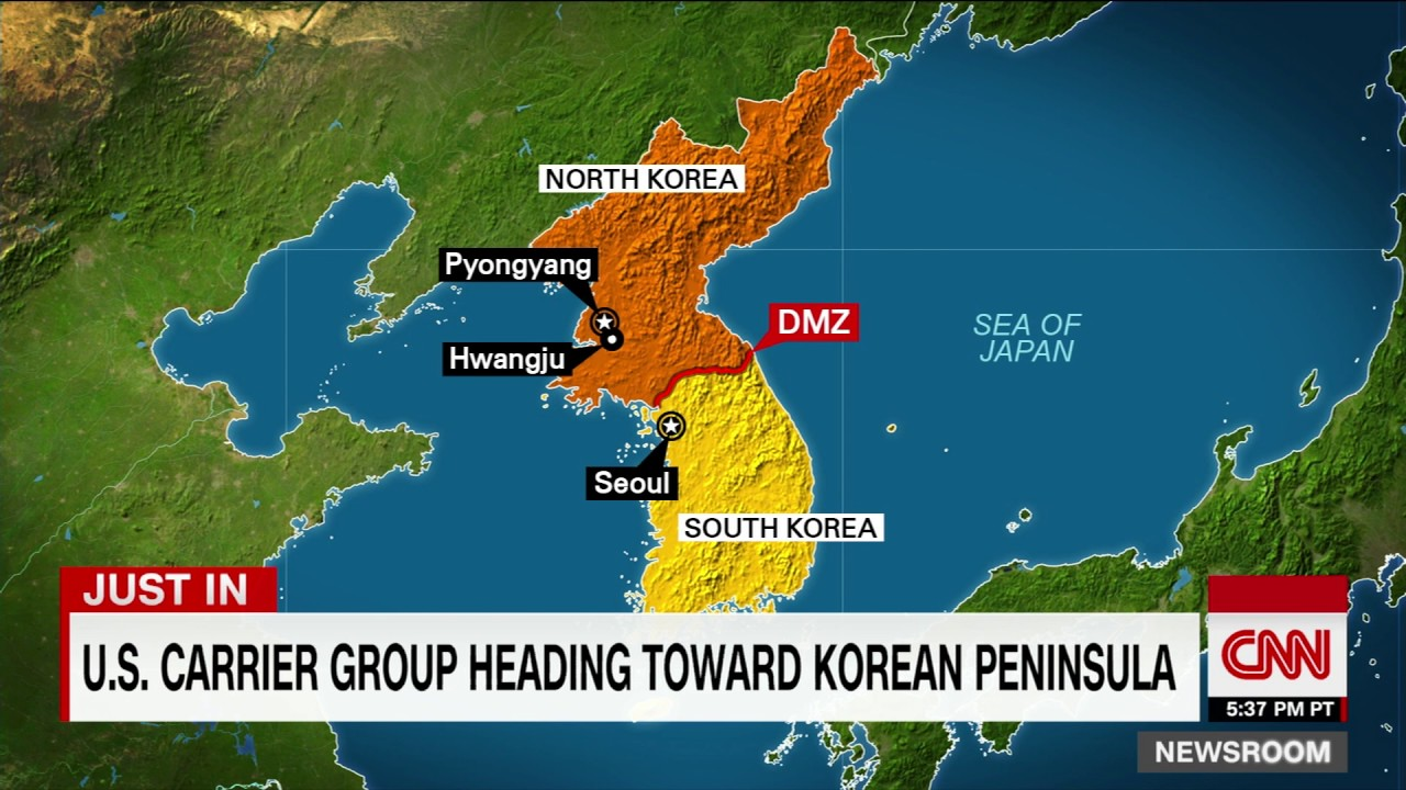 US Aircraft Carrierled Strike Group Headed Toward Korean - Location of us aircraft carriers map