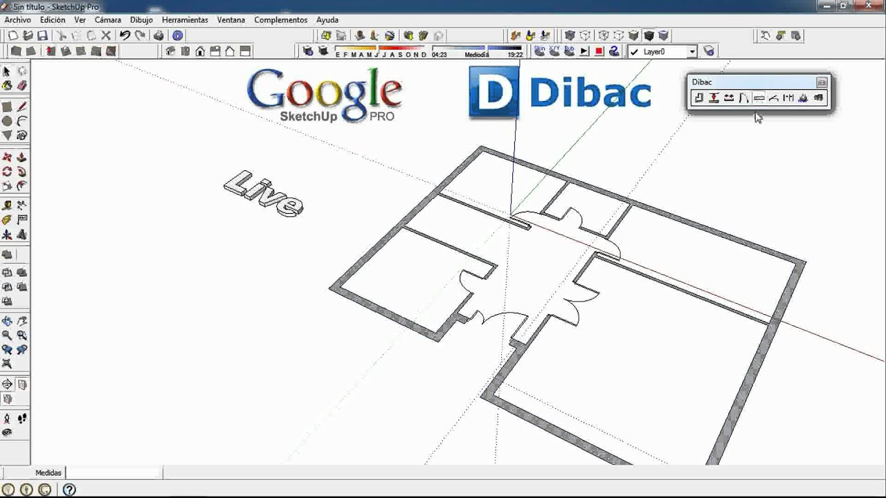 2 4 Dibac Cad 2d 3d Google Sketchup Plugin Youtube