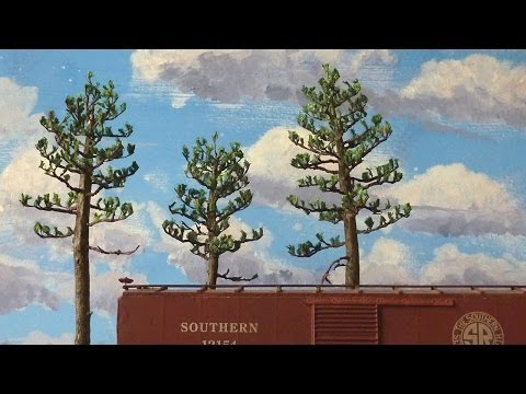 Scratch Building Southern Pine Trees in O Scale