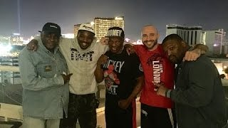 Ross thompson has some fun with floyd mayweather sr., mike mccallum and tmt fighter lionell thompsonmore from the mayweathers!get your merchandise...