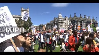 LIVE  Protesters march on Downing Street against Tory DUP alliance