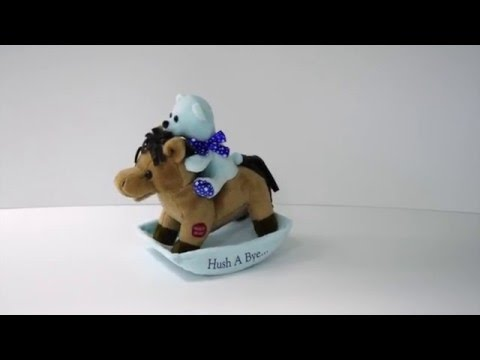 Rocking Horse Hush A Bye - Blue by Chantilly Lane®