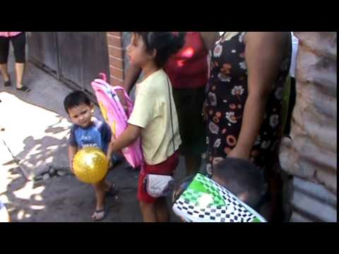 Giving Toys and Backpacks to Children in Need- La Gomera, Guatemala