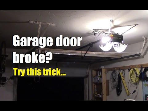 Garage door stuck? Won't go up? Try this...