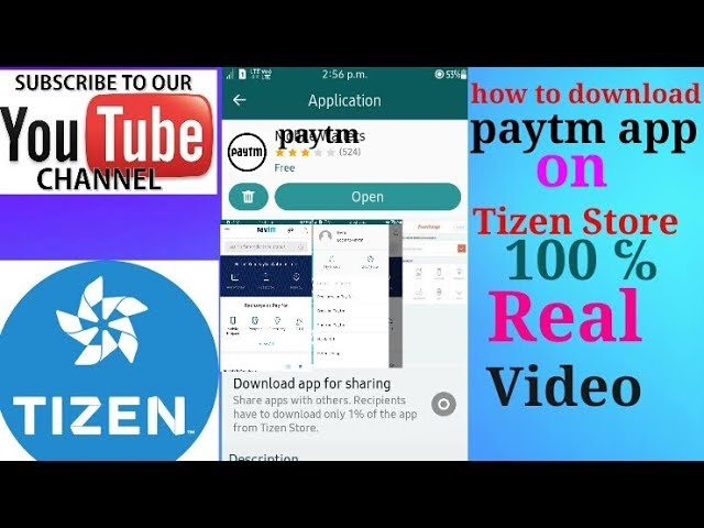4 26 MB] How to download paytm app in TIZEN STORE || 100