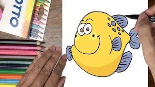 Dạy bé tập vẽ con cá nóc