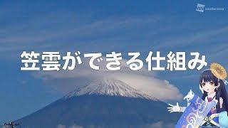 【お天気雑学】笠雲ができる仕組み