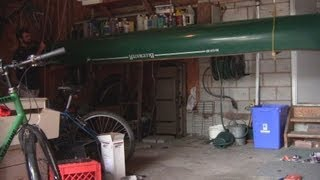 How To Build A Canoe Hoist Storage System In A Gar