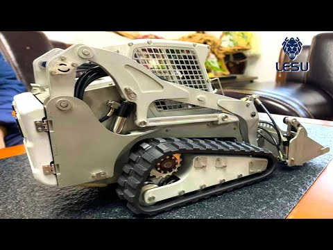 PROJECT SKiD! (PT1) TRACKS or WHEELS?! ASWR: BOTH! LESU HYDRAULiC SKiD STEER LOADERS   RC ADVENTURES
