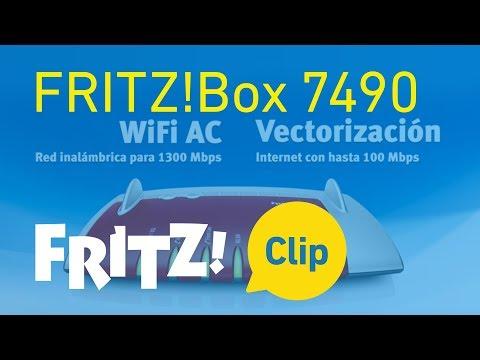 FRITZ! Clip – FRITZ!Box 7490 - Super modelo para Internet, telefonía y multimedia
