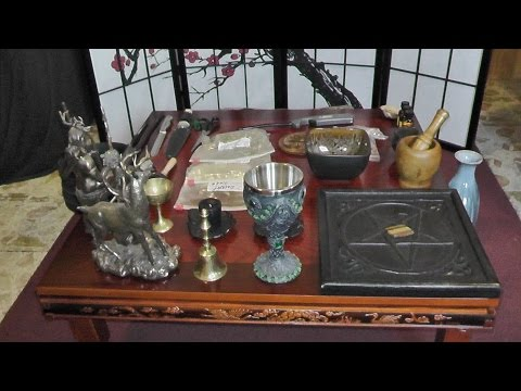 Lady Leeanna's Private Pagan Altar Room, Wicca Altar Setup
