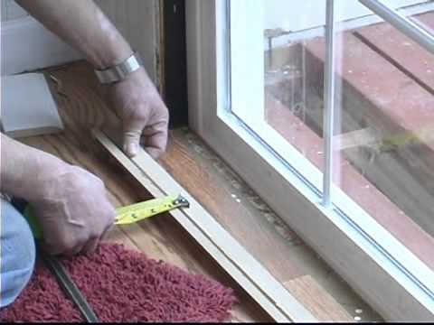 Replacing Sliding Glass Doors Installing Threshold Molding Youtube