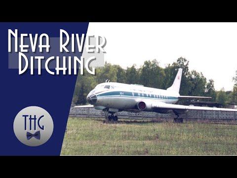 1963 TU-124 Neva River Ditching