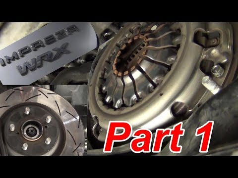 BEST Subaru Clutch How -to Replace Part 1 briansmobile1