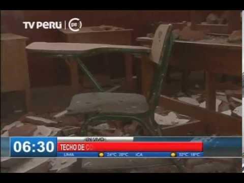 Arequipa: techo de colegio se desplomó por fuertes lluvias