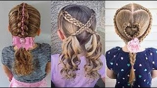 Satisfying   8 Cute Little Girl's Hairstyle Tutorials ❀ Viral Hairstyles For Kids