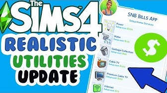 SUPER REALISTIC MOD! | SNB Bills App UPDATE  (Exclusive First Look) // The Sims 4 Mods