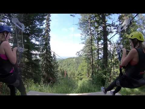 Zip Line Tours At Whitefish Mountain Resort