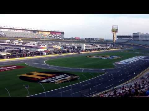 Dale Earnhardt Jr hauling ass at Charlotte Motor Speedway qualifying for sprint all star race 2013!