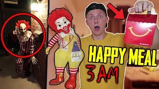 *SCARY* DONT GET A MCDONALDS HAPPY MEAL AT 3 AM!! (THEY GAVE ME A HAUNTED TOY!!!)