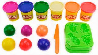 Making Fruits out of Play Doh Balls and Learn Colors | Learning Names Fruits for Kids