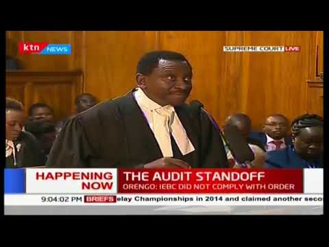 Senior lawyer James Orengo addresses the Supreme Court as Presidential petition hearing resumes