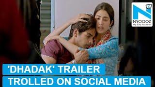 'Dhadak' trailer trolled, netizens call it a BAD remake of 'Sairat'