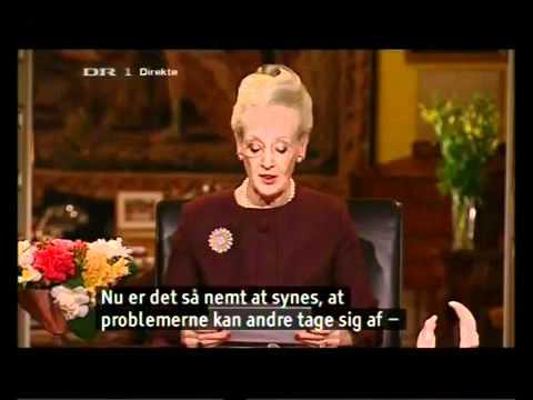 Margrethe II Queen of Denmark! (Danish Language)