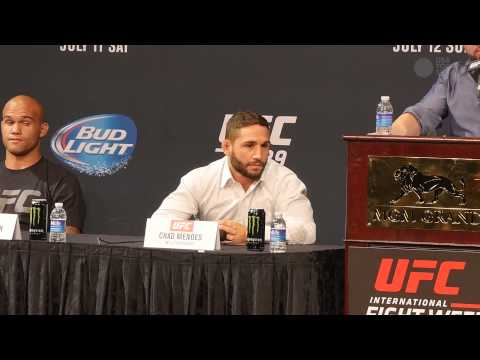 UFC 189 pre-fight press conference highlights with Conor McGregor, Chad Mendes