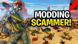 Scammer Says He Can MOD My Guns! (Scammer Get Scammed) Fortnite Save The World