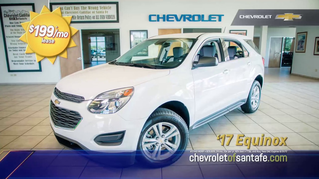 Chevrolet cadillac of santa fe equinox lease offer