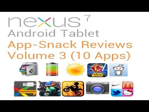 Tablet Android Apps: Volume 3 (10 Apps) Nexus 7