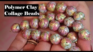 Creating Collage Beads for  Polymer Clay Jewelry