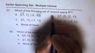 Q1 Q2 Spanning Set of vectors in R2 thumbnail