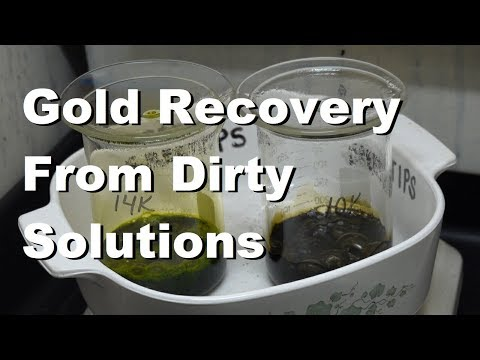 Gold Recovery From Dirty Solutions