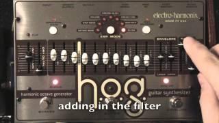 Electro-Harmonix HOG Synth Demo 3 - Simple Arpeggiator