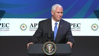 Vice President Mike Pence of the United States at the APEC CEO Summit 2018