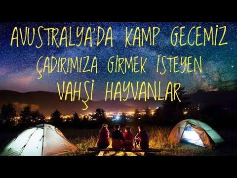 Avustralya'da kamp gecemiz