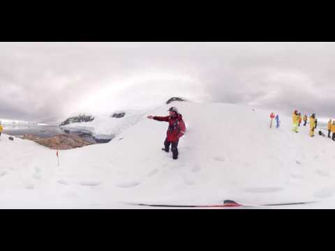 Geologist & Glaciologist Colin Souness at Neko Harbor, Antarctica (360° VR)
